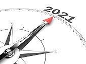 New year resolution 2021 plan compass