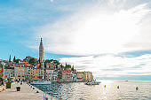Rovinj city in Croatia at day light