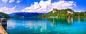 lake Bled in Slovenia - one of the most beautiful in Europe.