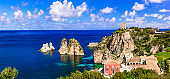 sea scenery of Sicily island