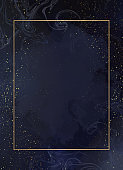 Magic night dark blue card with sparkling glitter