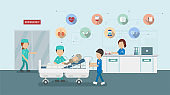 Medical service with icons