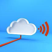 cloud computing with wifi icon