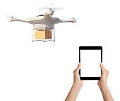 using tablet for driving drone