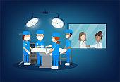 Surgeon team in surgery room