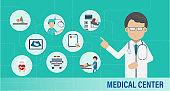 Medical center infographic