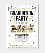 Graduation party invitation with information