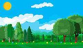 Summer landscape concept.