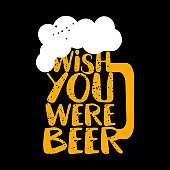 Wish you were beer - funny Saint Patrick's Day