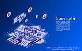 Money making vector concept
