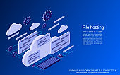 File hosting vector concept