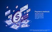 Payment methods vector concept