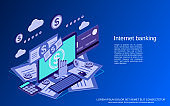 Internet banking vector concept