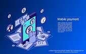 Mobile payment vector concept