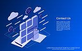 Contact Us vector concept