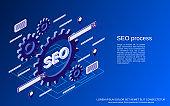 SEO optimization vector concept