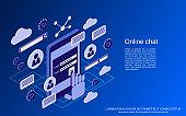 Online chat vector concept