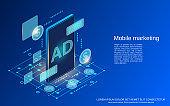Mobile marketing vector concept