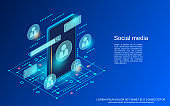 Social media vector concept