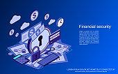 Financial security vector concept