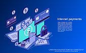 Internet payment vector concept