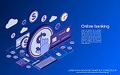 Online banking vector concept