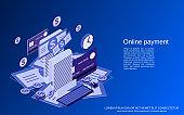 Online payment vector concept