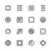 Electronics - Flat Vector Icons