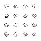 Computing Cloud - Flat Vector Icons