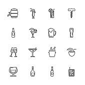 Alcoholic - Flat Vector Icons