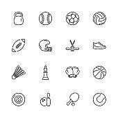 Sport Equipment - Flat Vector Icons