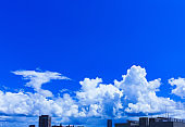 cumulonimbus cloud and blue sky in Japan