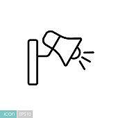 Loudspeaker or megaphone vector icon