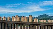High residential blocks of flats in Chongqing city