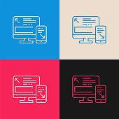 Responsive multi color icon