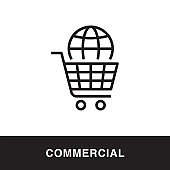 Commercial Outline Icon Design