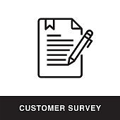 Customer Survey Outline Icon Design