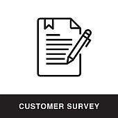 Customer Survey Outline Icon Design
