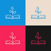 Knowledge Growth multi color icon