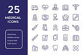 Medical Line Icon Design