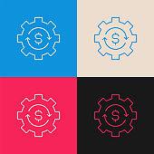 Making Money multi color icon