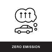 Zero Emission Outline Icon Design
