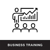 Business Training Outline Icon Design