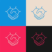 Agreement multi color icon