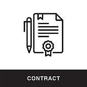 Contract Outline Icon Design