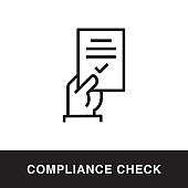 Compliance Check Outline Icon Design