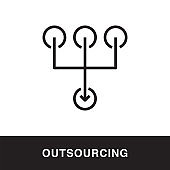 Outsourcing Outline Icon Design