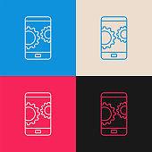 Mobile Development multi color icon