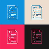 Exam Grades multi color icon