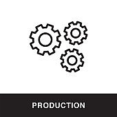 Production Outline Icon Design
